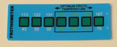Liquid Crystal Label Thermometer